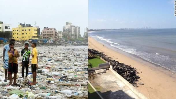 Чоловік з Індії прибрав один з найбрудніших пляжів у світі
