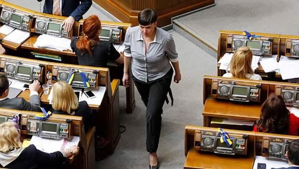 Надежда Савченко раскритиковала действия президента Порошенко