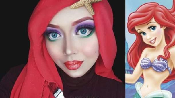 Мусульманская визажистка перевоплощается в героев из мультиков