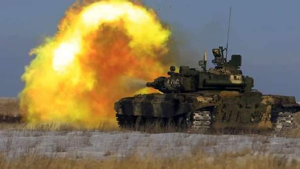Боевики обстреляли из танков бойцов ВСУ на Донбассе