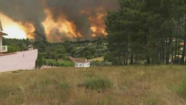 Масштабный пожар в Португалии