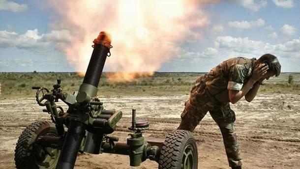 В зоні АТО бойовики стріляють із забороненої зброї