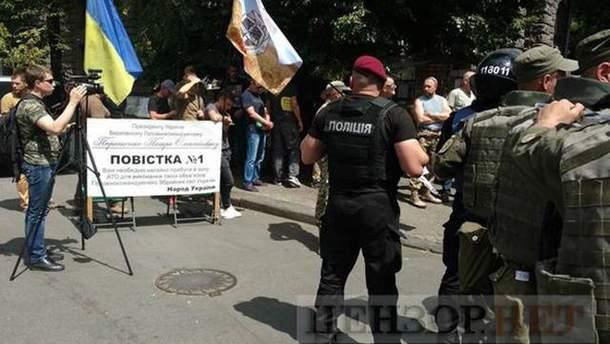 """Под АП вспыхнули столкновения между правоохранителями и бойцами """"Айдара"""""""