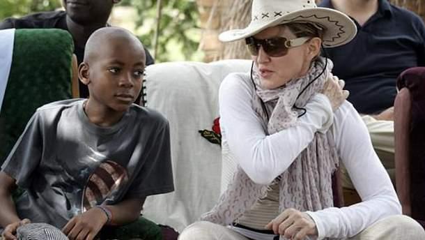 Мадонна с сыном Дэвидом