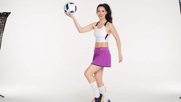 Маша Ефросинина занимается спортом