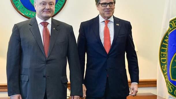 Порошенко встретился с министром энергетики США Риком Перри