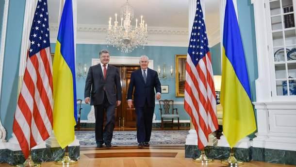Петро Порошенко провів зустріч з Рексом Тіллерсоном