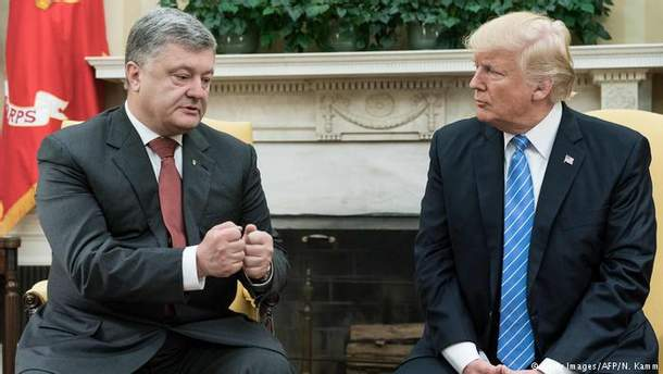 Порошенко впервые встретился с Дональдом Трампом
