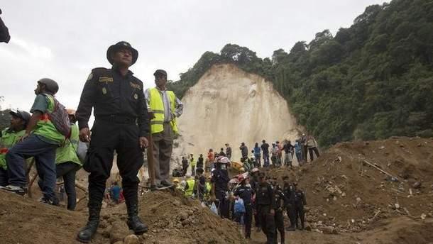 Оползень в Гватемале