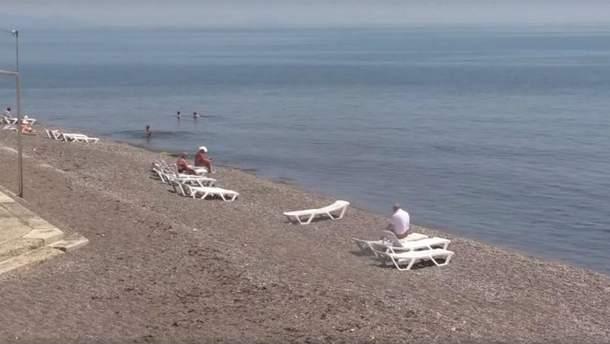 Пляж в Алушті