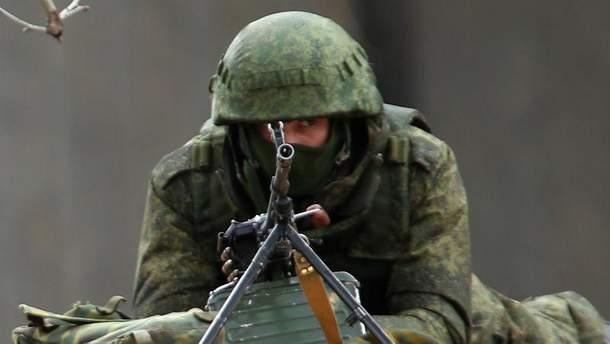 Український військовий в зоні АТО, Авдіївка, 2017
