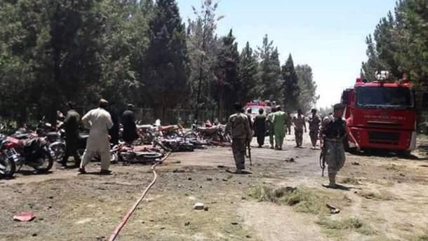 Взрыв в Афганистане (фото с места происшествия)