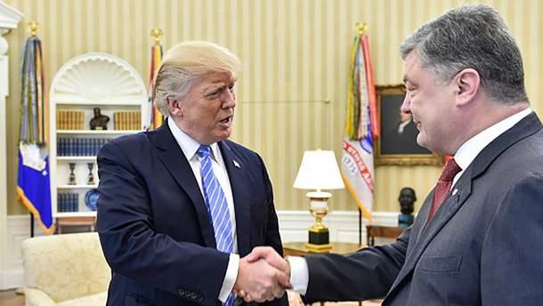 Встреча Порошенко с Трампом в Вашингтоне