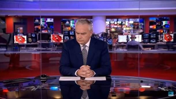 Конфуз в прямом эфире: ведущий канала BBC две минуты просидел молча
