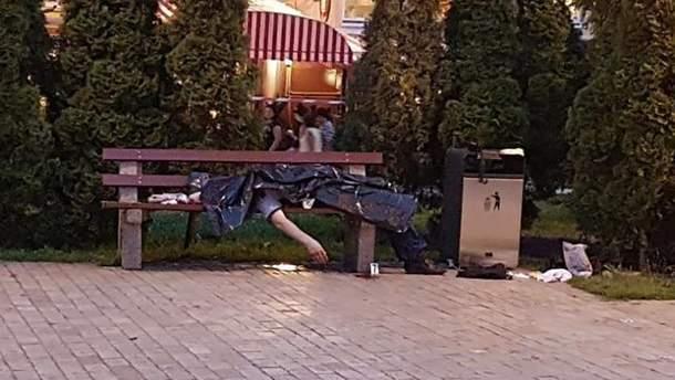 Убийство бойца АТО в Киеве возле Золотых Ворот