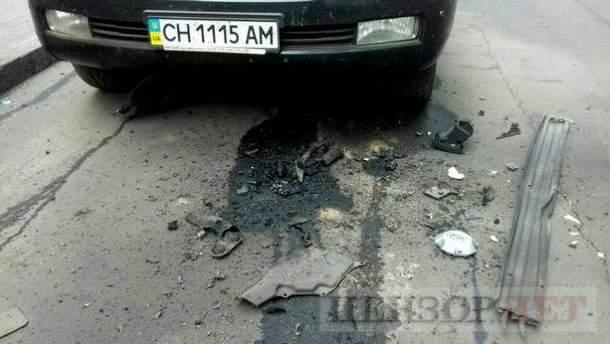 В Киеве взорвали джип