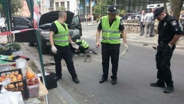 Вибух  джипа у Києві