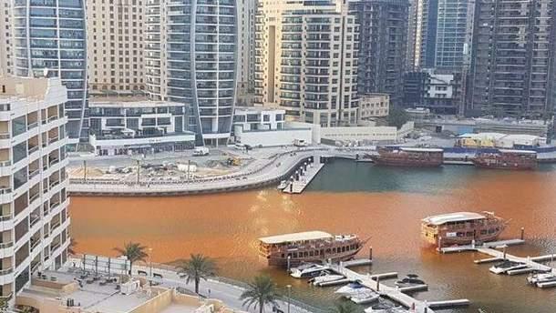Вода стала оранжевою у місті Дубай