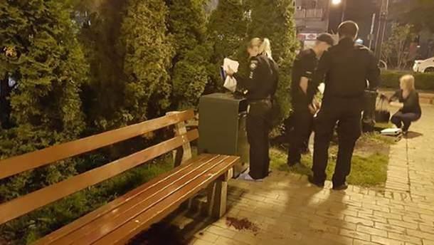 Місце вбивства біля Золотих Воріт у Києві