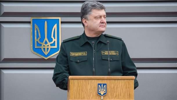 Украинский главный командующий Петр Порошенко
