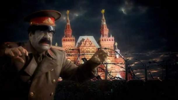 "Кадр из клипа ""ANJ - Gorbachev"""