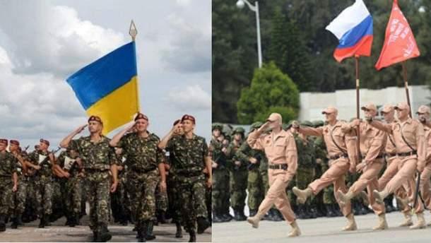 Українська та російська армії