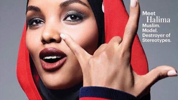 Известная модель в хиджабе украсила обложку американского глянца