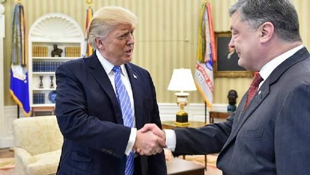 Порошенко и Трамп