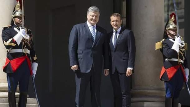 Итоги встречи Порошенко и Макрона, которая состоялась во Франции 26 июня