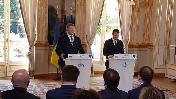 Встреча Порошенко и Макрона во Франции
