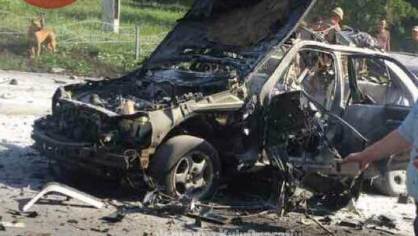 Взрыв автомобиля в Киеве