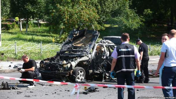 Взрыв автомобиля в Киеве: погиб Максим Шаповал