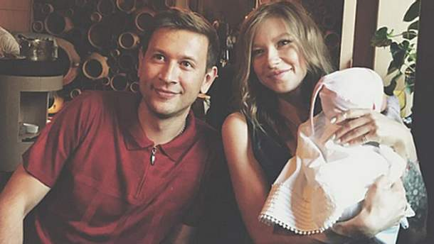 Дмитрий Ступка и Полина Логунова покрестили дочку
