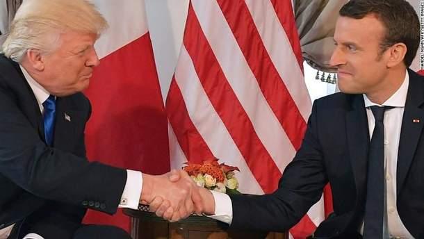 Трамп і Макрон