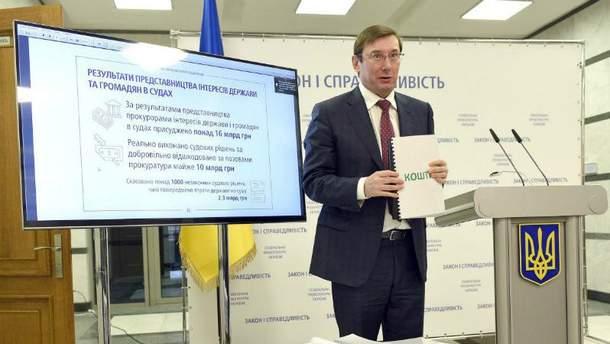 Юрій Луценко анонсував подання на ще одного нардепа