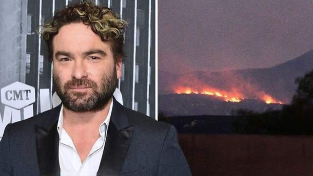 Джонни Галецки потерял дом из-за пожара