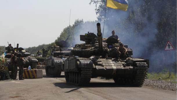 Український танк в зоні АТО