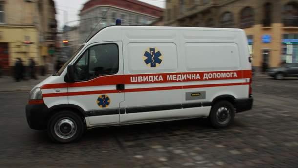 Мужчину отвезли в больницу