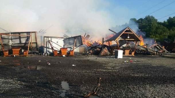 Пожар на курорте в Солотвино