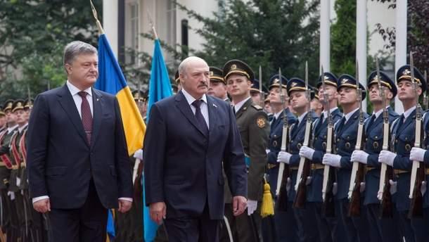 Зустріч Петра Порошенка та Олександра Лукашенка у Києві