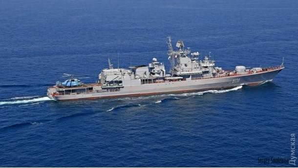 """Російський розвідувальний корабель """"Приазов'я"""""""
