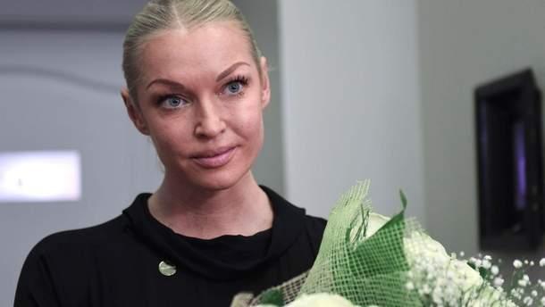 Волочкова заявила, що не боїться українських санкцій
