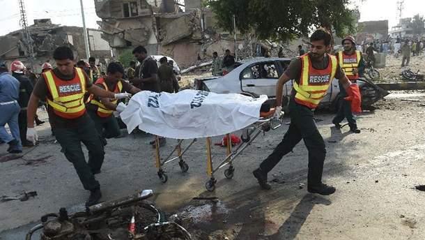 Взрыв в Пакистане. Фото с места событий