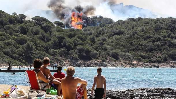 Лесные пожары во Франции