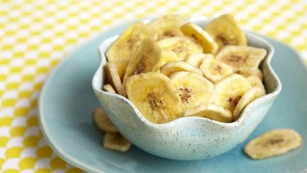 Рецепт бананових чіпсів