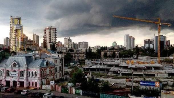 Непогода в Киеве 27 июля
