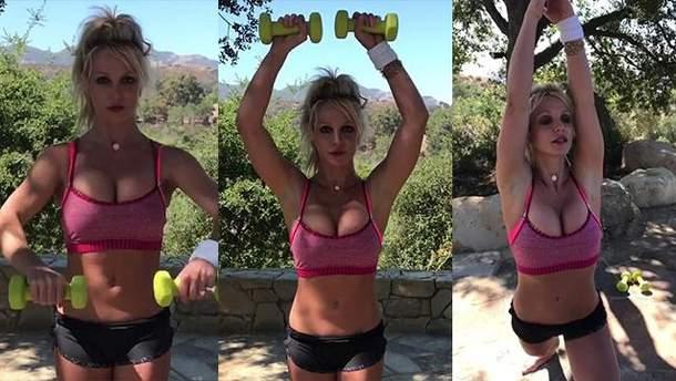 Бритни Спирс показала свою тренировку