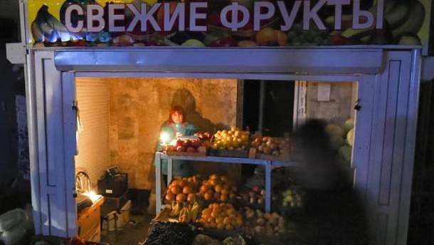 В окупованому Криму раптово зникло світло