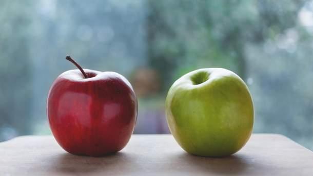 Яблука запобігають передчасному старінню