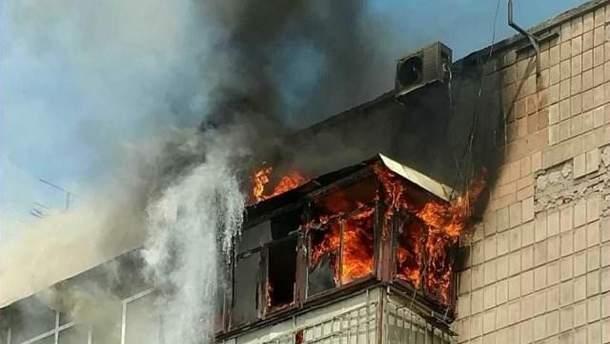 Пожежа в багатоповерхівці Києва